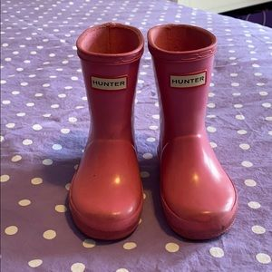 Hunter Boots - size 5 toddler
